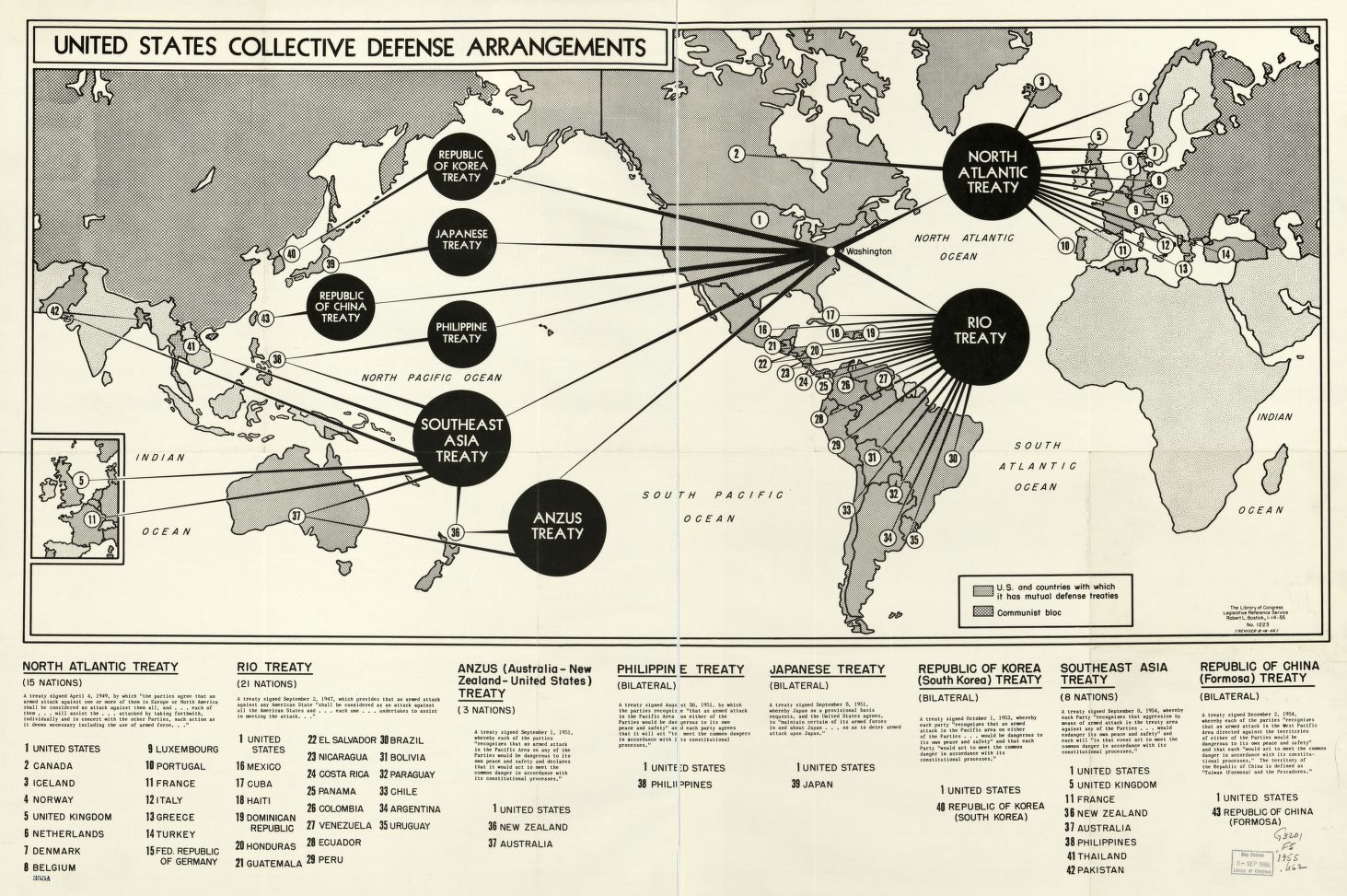Check out this 1966 #map of US collective #defense arrangements!  https://t.co/ahNBbJlTyn https://t.co/mgKEgfrglK