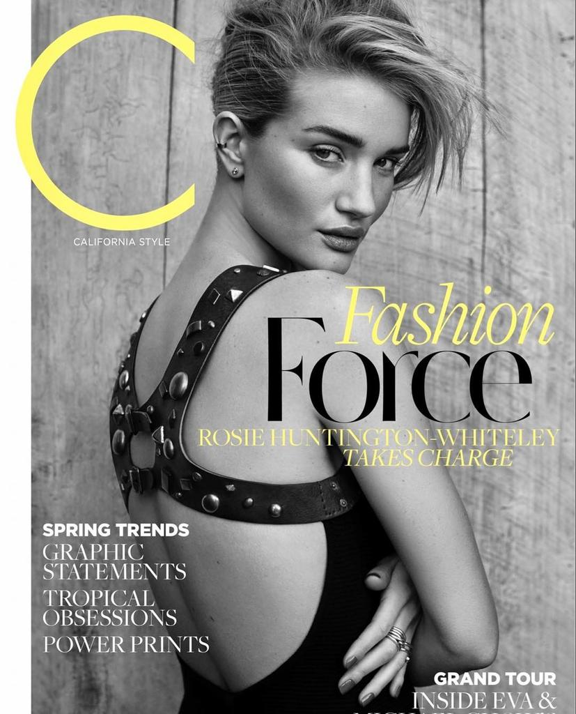 Rosie Huntington-Whiteley for C Magazine - March 2017 #rosiehuntington...