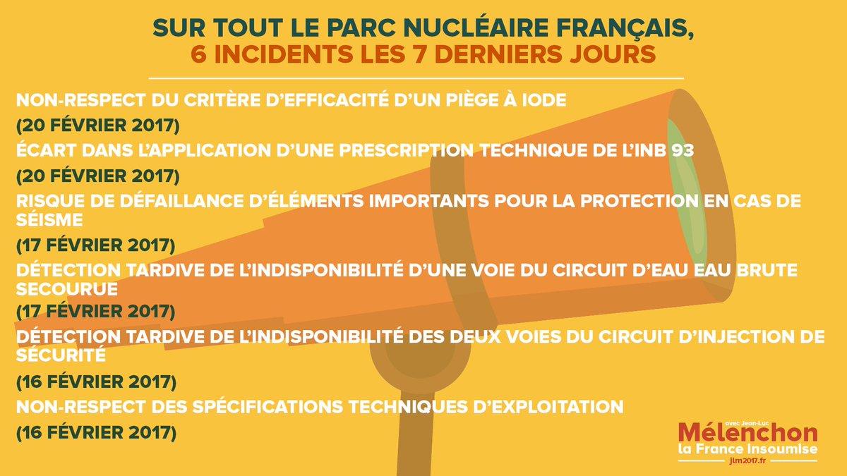 Il y a maintenant presque un incident par jour dans le parc #nucléaire...