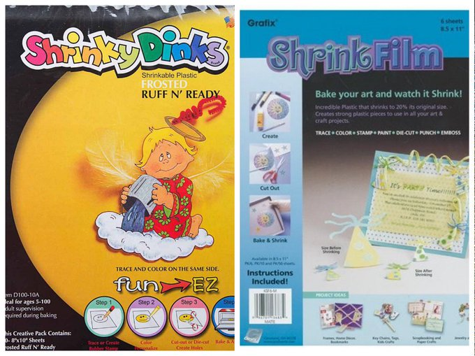 Which is Better: Shrinky Dink Paper or Grafix Shrink Film?