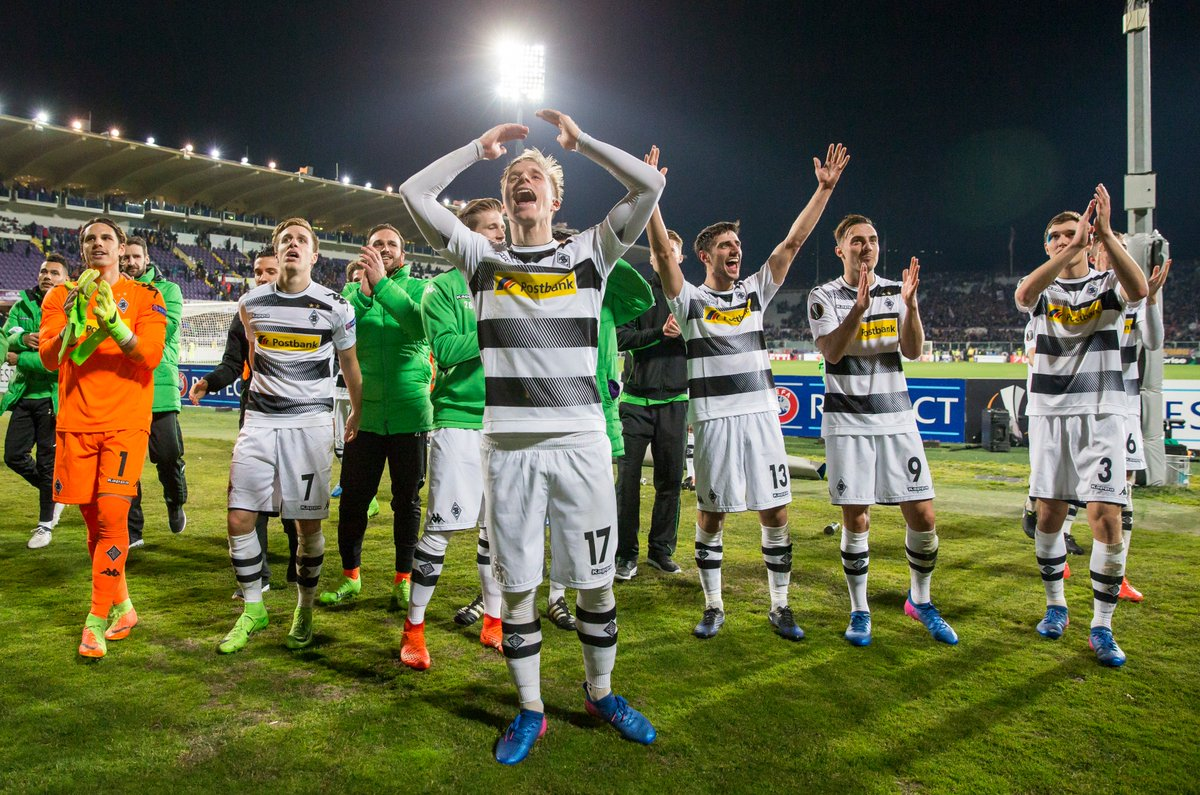 We actually forgot to mention: WE'RE IN THE LAST 16, BABY! #fohlenelf...