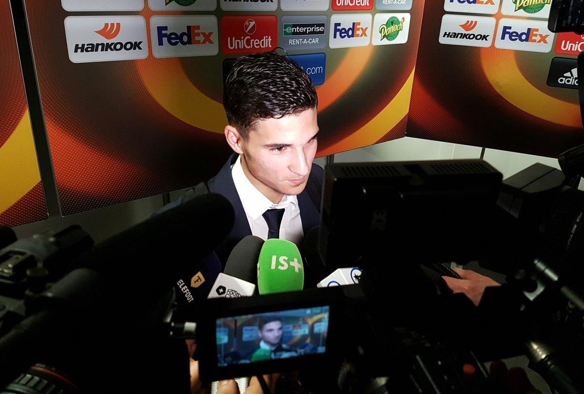 .@HoussemAouar 'Très heureux d'être entré en jeu et d'avoir marqué ici...