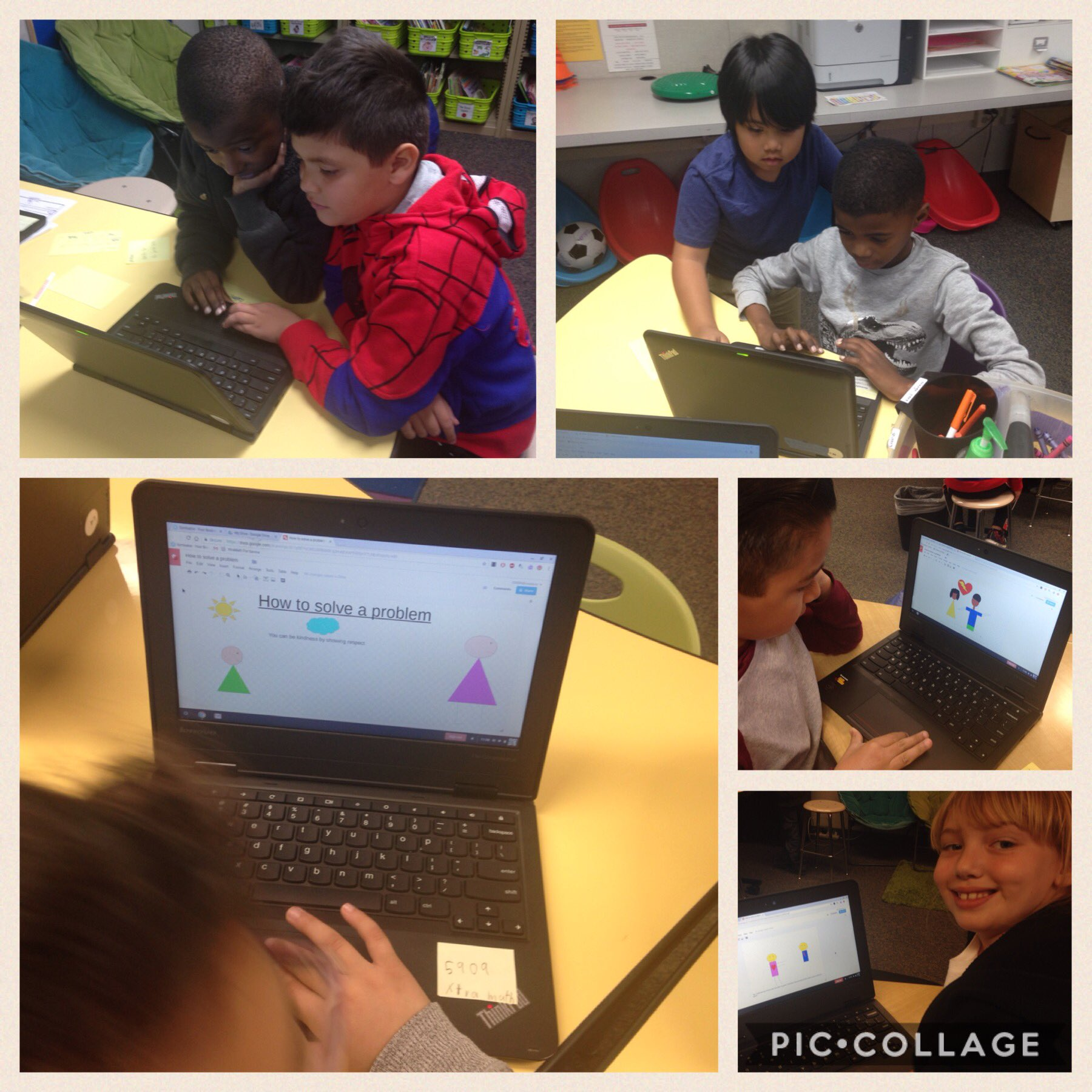 Brainstorming conflict resolution on the playground & responding via Google Draw #cvDLDay @CajonValleyUSD @MagnoliaCVUSD https://t.co/6tPtfgZD0A
