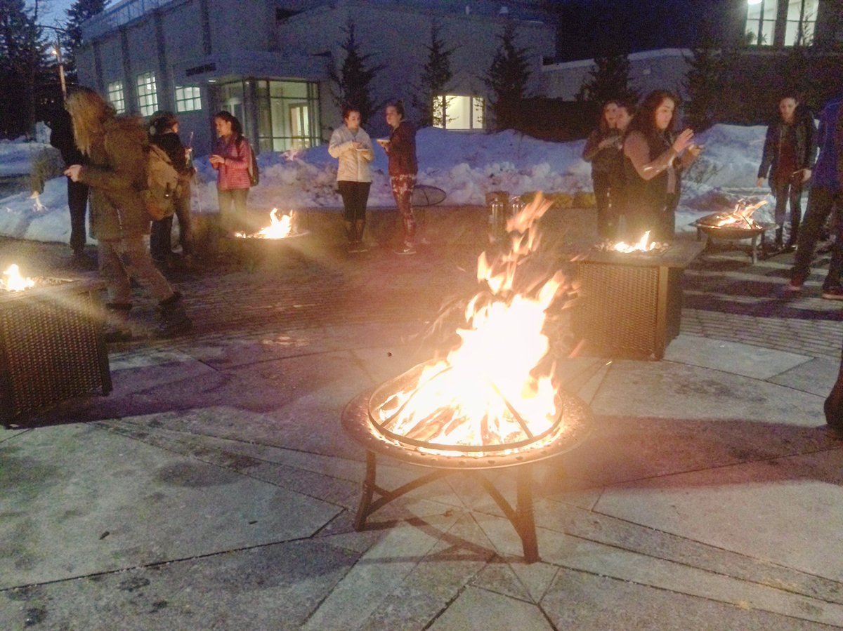 une usg uneusg twitter campfires ice sculptures and of course you can t forget the smore s nor easters know how to make the best of cold weather