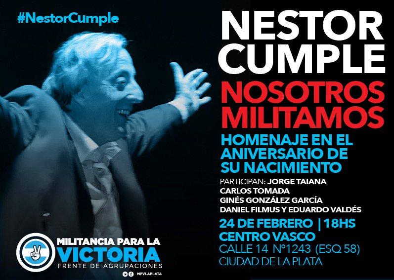 Mañana vamos a estar en La Plata homenajeando a Néstor en la víspera d...