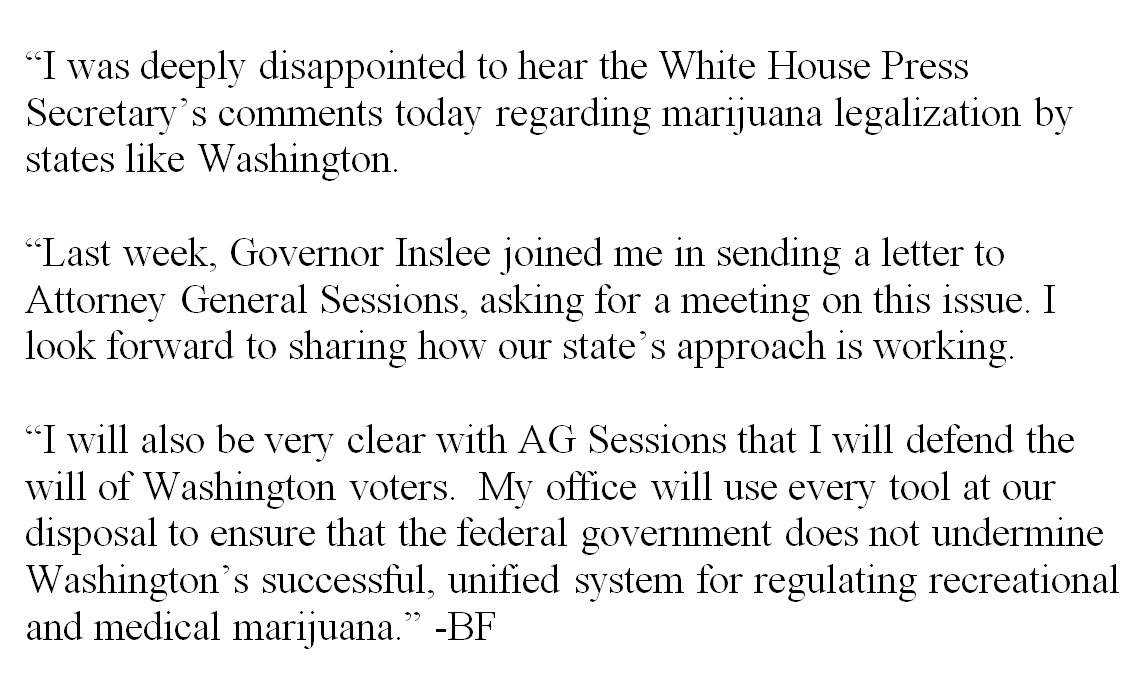 Letter to AG Sessions: