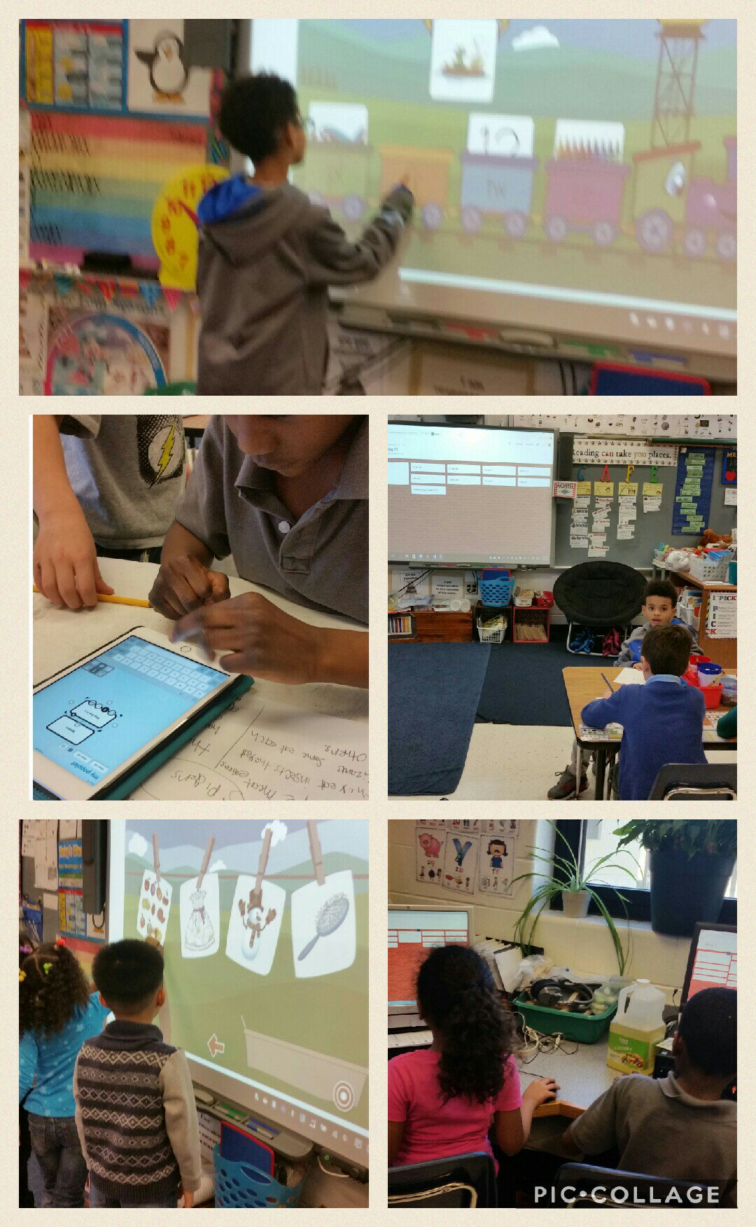 Here's to digital learning day.  First graders used technology in many ways. @SwansCreekES #DDLday #PWCS https://t.co/KZodhl9Vug