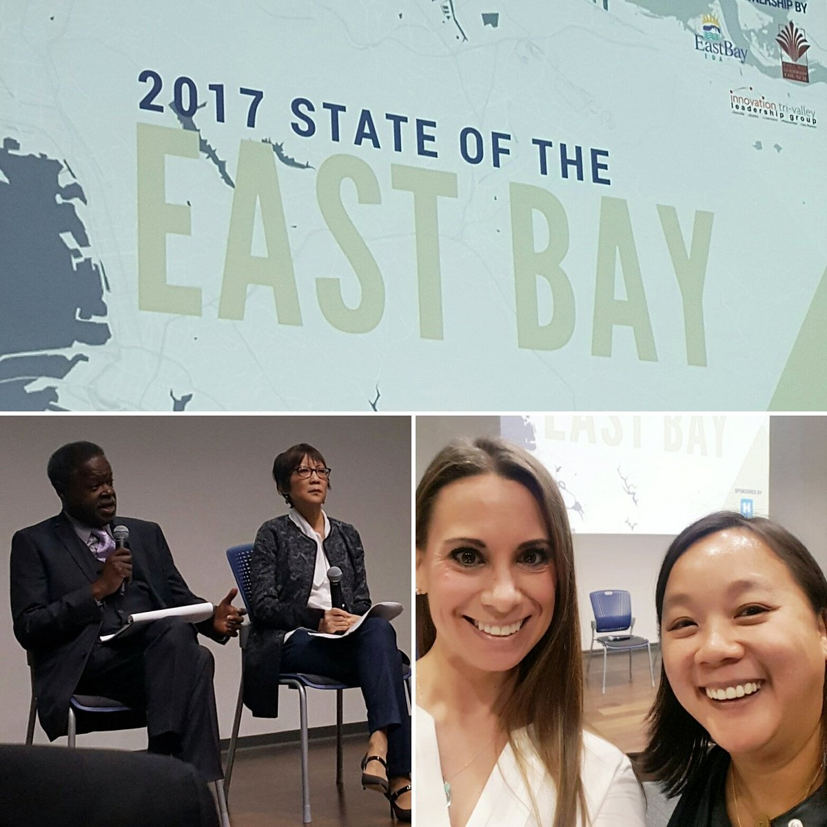 Representing @jloakeastbay at the State of the East Bay. Ongoing theme is 3/4 of our pillars: jobs, food, housing. #jloeb #soteb #eastbayeda