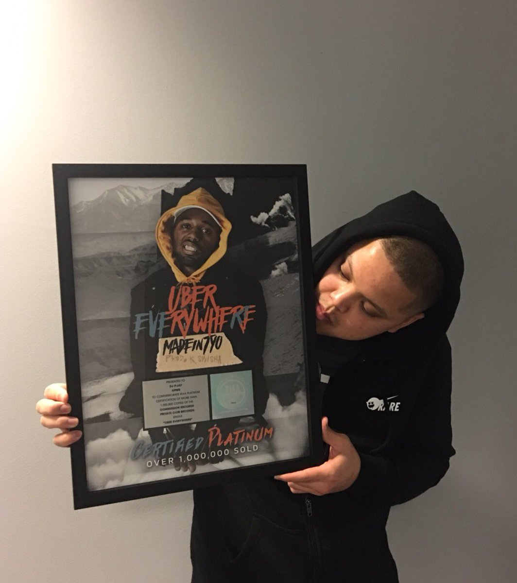 Big ups to @madeintyo for the #UberEverywhere plaque ! Hanging this bad boy in the home studio! ✌