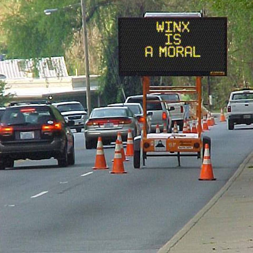 Even the traffic signs are tipping Winx for the TAB Chipping Norton St...