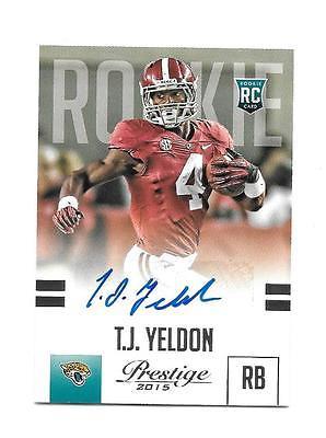 2015 Prestige #Rookie Autograph Blue T.J. Yeldon Jacksonville #Jaguars Alabama AU  http:// dlvr.it/NScN1H  &nbsp;   #Football<br>http://pic.twitter.com/3Aoi2QP2jG