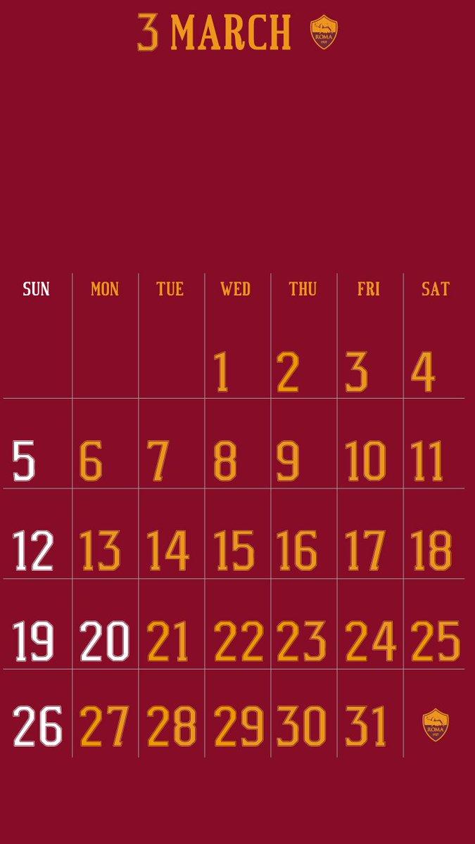 Footballmax 公式 على تويتر Asローマ16 17 フォントでカレンダーを作ってみました Iphone以外の方はブログから画像を保存してください ブログ更新 カレンダー壁紙3月編 Asローマ T Co Cmqjidktow Asroma Calendar T Co 7fzymhv7o9