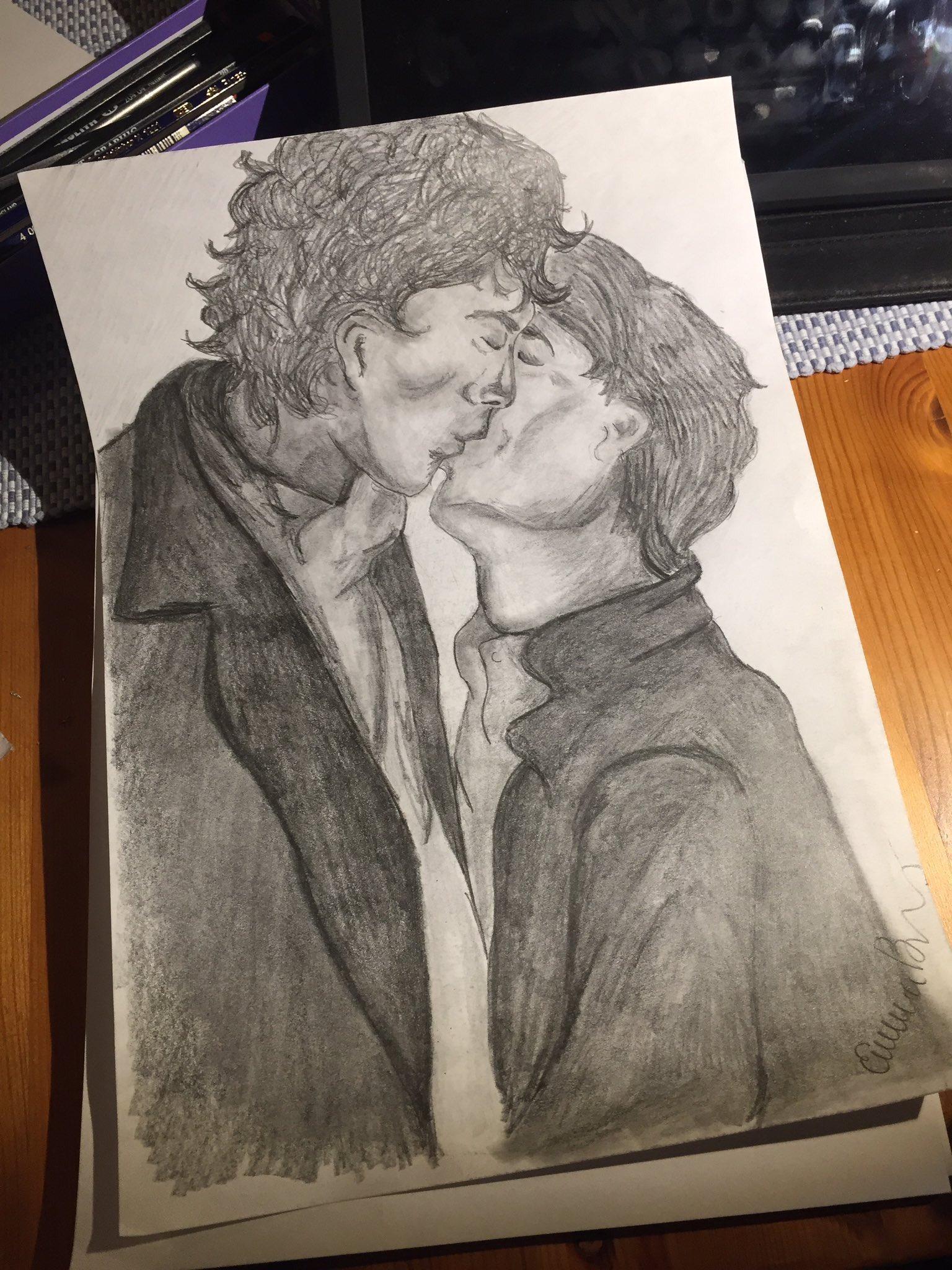 A little bit of #JohnLock #SherlockLove drawn by the talented @SymphonyOnMute for our #FanArtFriday #FeaturedArt! 🤗❤ #Sherlock #fanart https://t.co/B6mMl1G15a