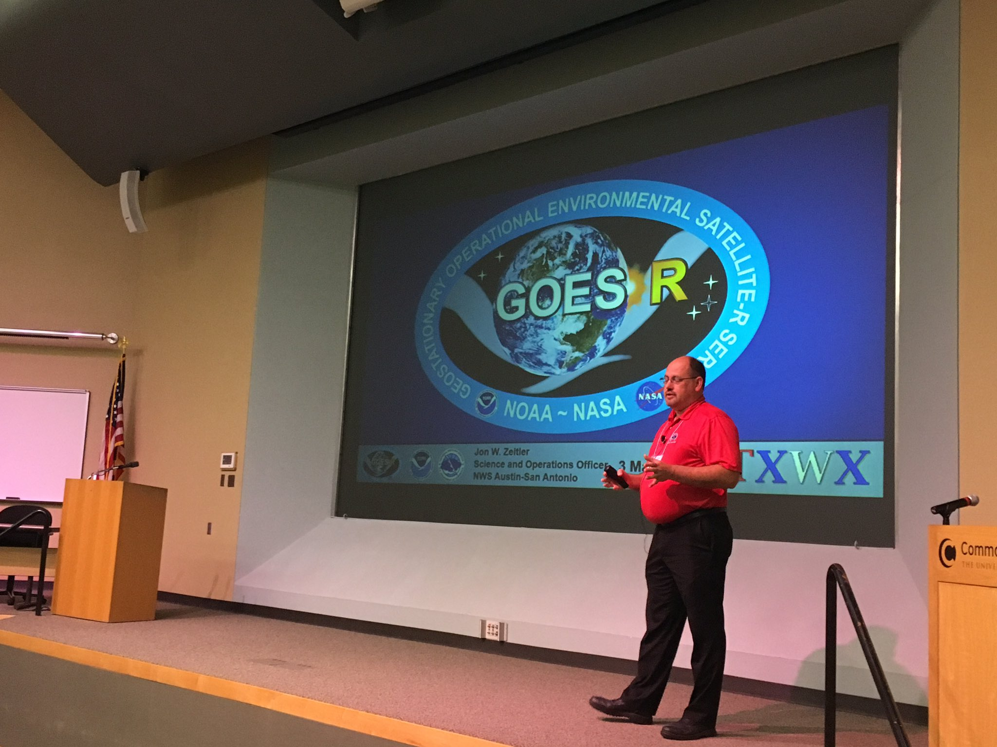The 2017 Texas Weather Conference is kicked off with @jonzeitler teaching the Goes-R short course. #txwx2017 https://t.co/KAk31zj9Ij