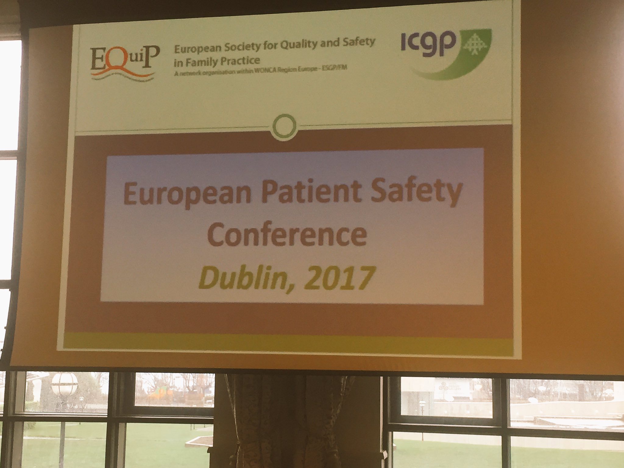 """#EQUIPDublin2017 theme: """"Improving #safety for everybody in #GeneralPractice and its interfaces"""" @WoncaEurope https://t.co/jcVtokyLZh"""