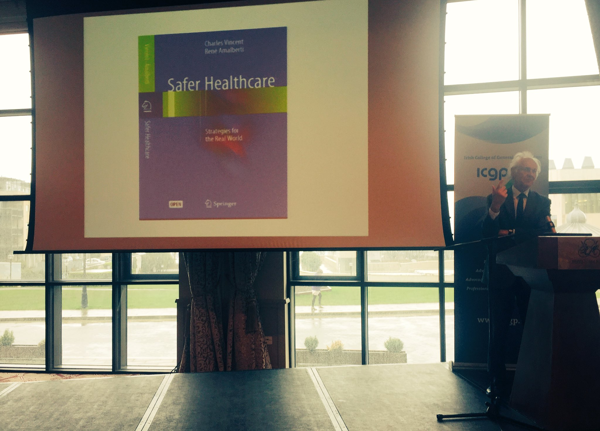 """#EQUIPDublin2017 Charles Vincent keynote address: Safer #healthcare: Safer Strategies for the RealWorld-""""#safety is a moving target"""" https://t.co/KMPShUjqKI"""