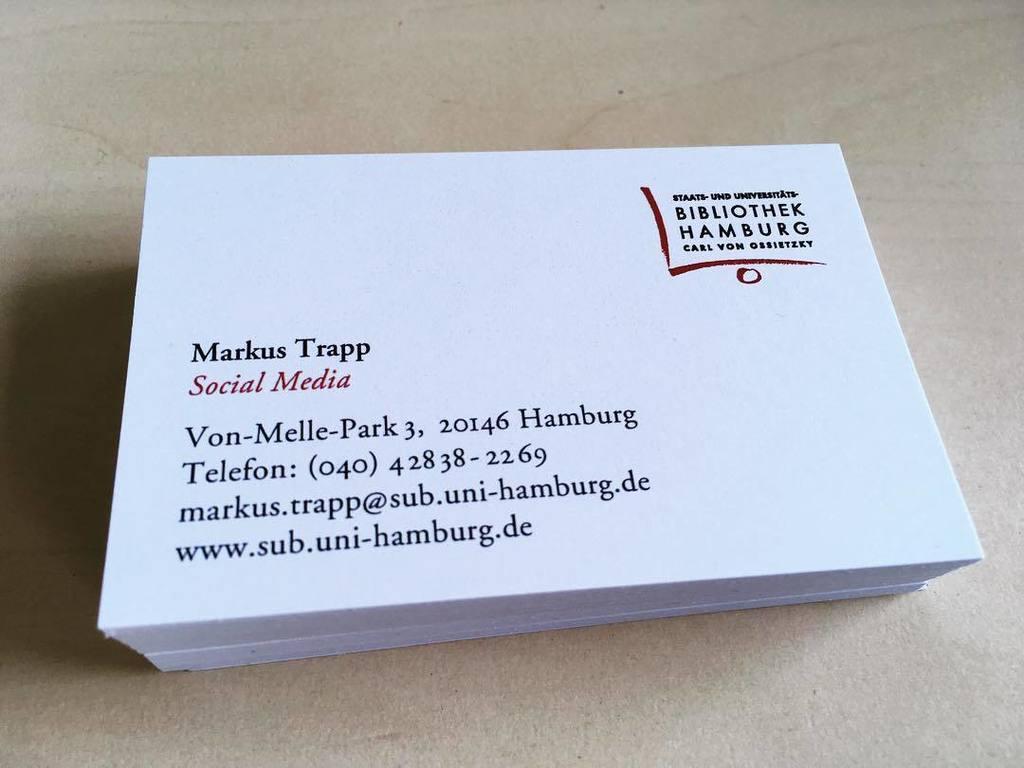 Markus Trapp On Twitter Meine Neuen Visitenkarten Der