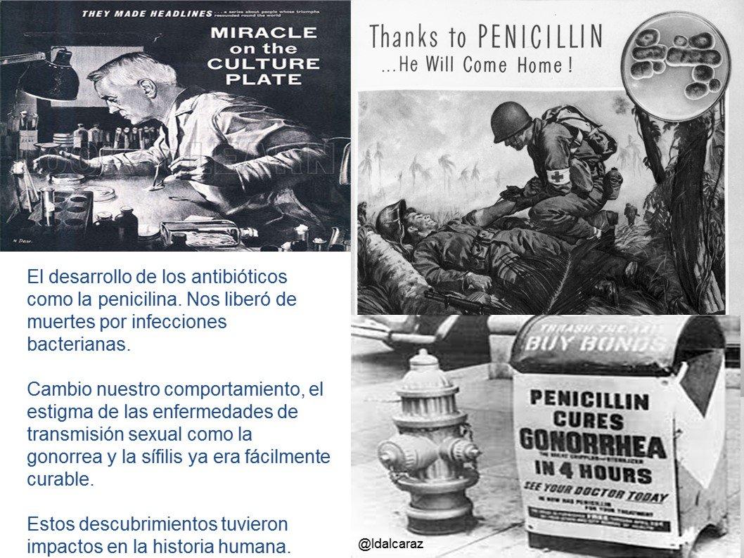 El desarrollo de la microbiología permitió la generación de antibióticos y vacunas, que cambiaron la historia de la humanidad #microMOOCSEM2 https://t.co/Ic8NqpDqGD