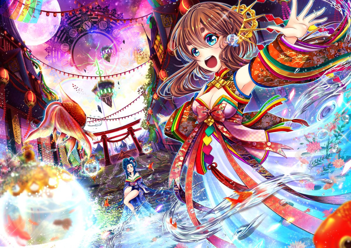 清成 On Twitter 久々にオリジナルのイラスト ファンタジー和風を