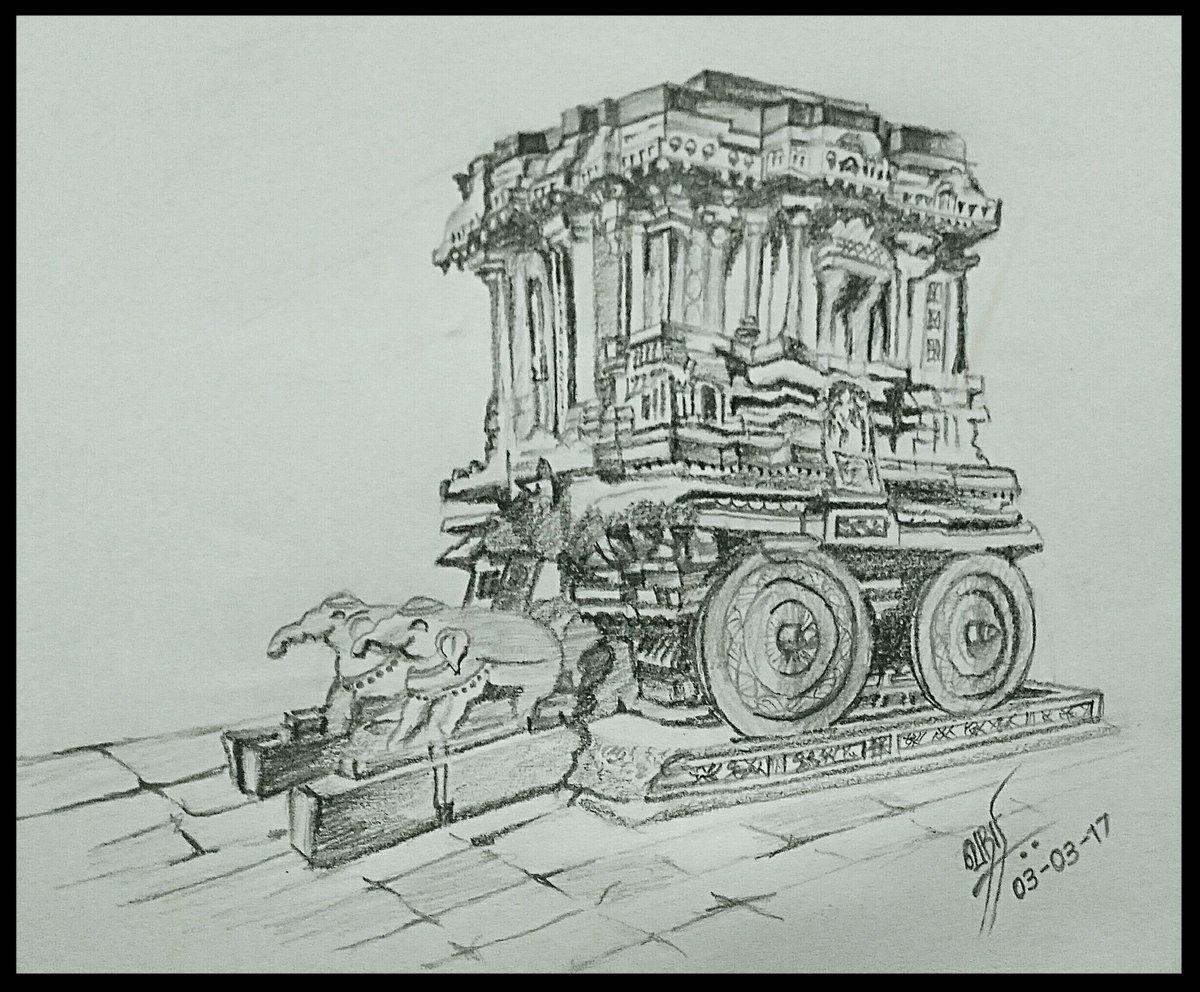 Kumara srihariharan on twitter pencil sketch beautiful temples