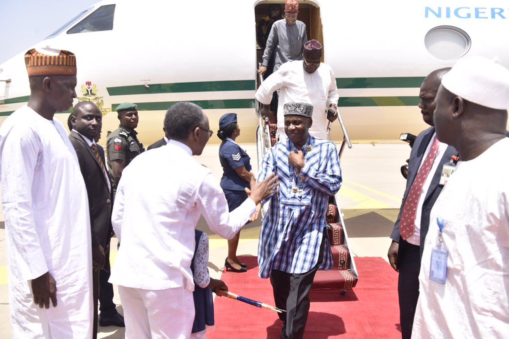 Acting President Osinbajo is currently at Kaduna airport to see level of preparedness ahead of next week's relocation of Abuja International Airport