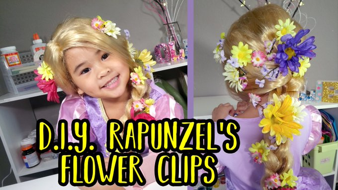 DIY Rapunzel's Flower Hair Clips