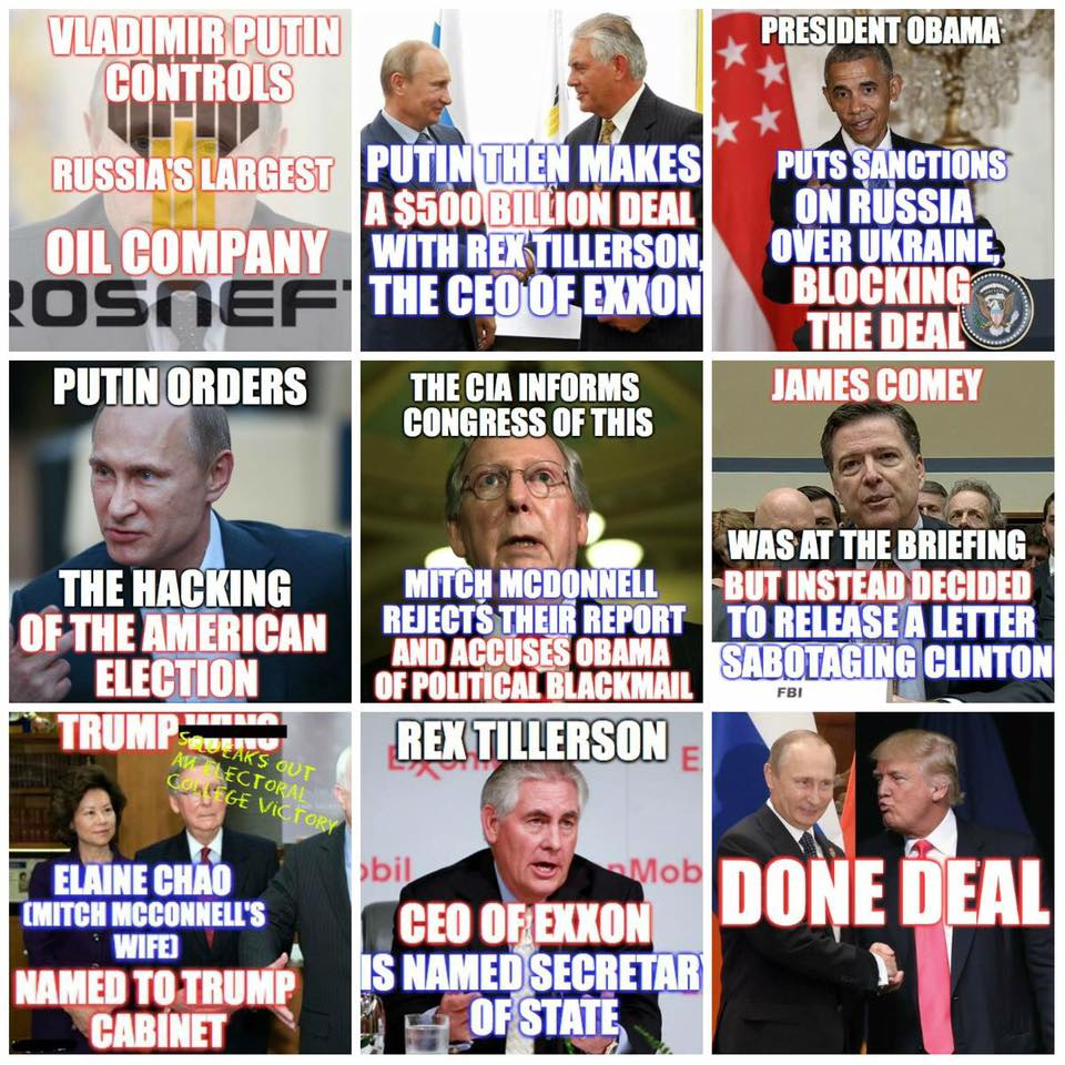 @peterdaou &amp; there is the other #Russia, #Putin, #Trump, #team, #Exxon, #oilandgas ties to #RussiaGate #KrelinKlan. $500 Billion + reasons<br>http://pic.twitter.com/n21rmx2lD4