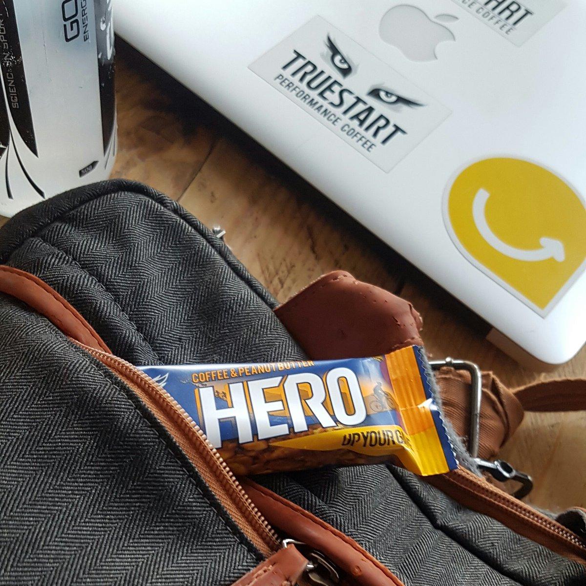 RT @simonhills58: Big days require big snacks!! #HeroBar #TeamTrueStart #UpYourGame #coffee #caffeine https://t.co/Higsey8Dvb