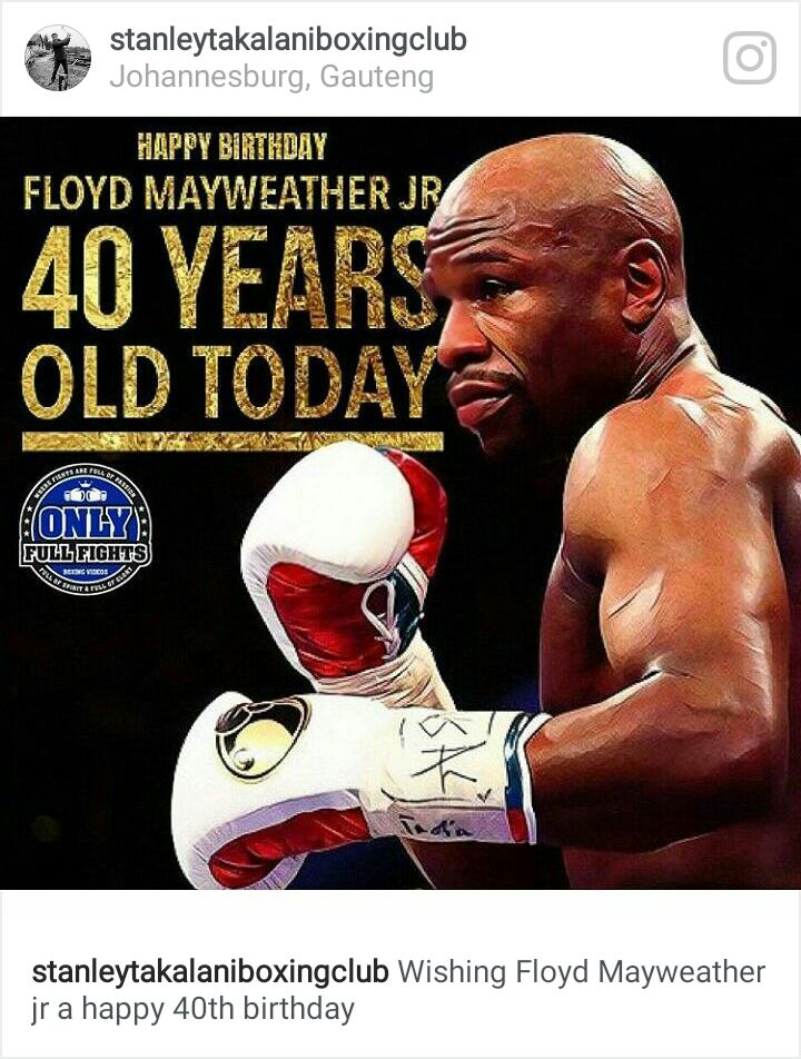 Happy birthday champion . Mr Money Man Floyd Mayweather jr. Have a cool day...
