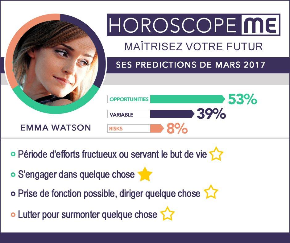 L&#39;AstroStar N°22 est : #EmmaWatson - Découvrez les #prédictions pour son mois de Mars 2017 par @HoroscopeMefr<br>http://pic.twitter.com/I32k8KEH9S