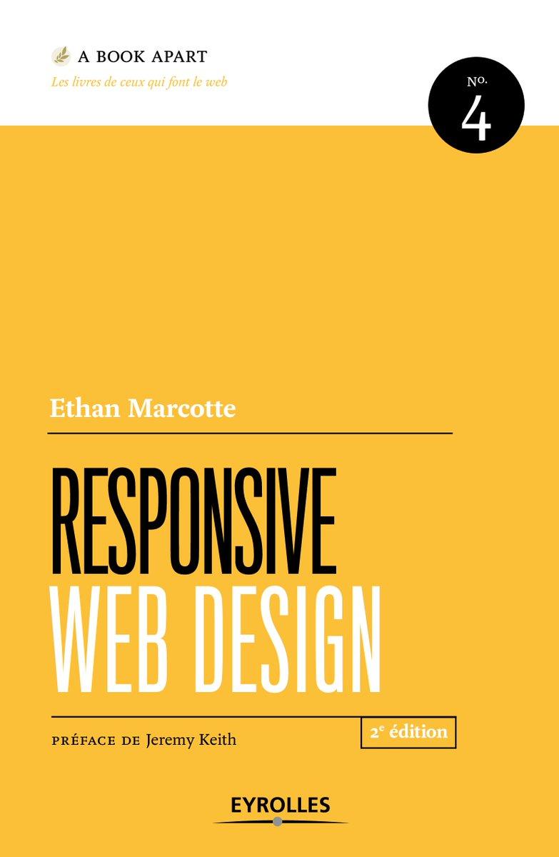 #VendrediLecture : Découvrez la nouvelle édition de #responsive #web #design de @beep, collection @abookapart   http://www. eyrolles.com/Informatique/L ivre/responsive-web-design-9782212673616 &nbsp; … <br>http://pic.twitter.com/jdepqnWuQr