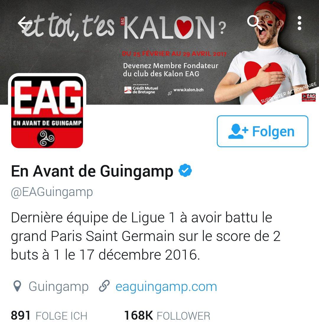 #insolite Quand l&#39;@EAGuingamp trolle le @PSG_inside et le reste des équipes de @Ligue1 sur #Twitter... Ça donne ça <br>http://pic.twitter.com/Vadg69tlwu