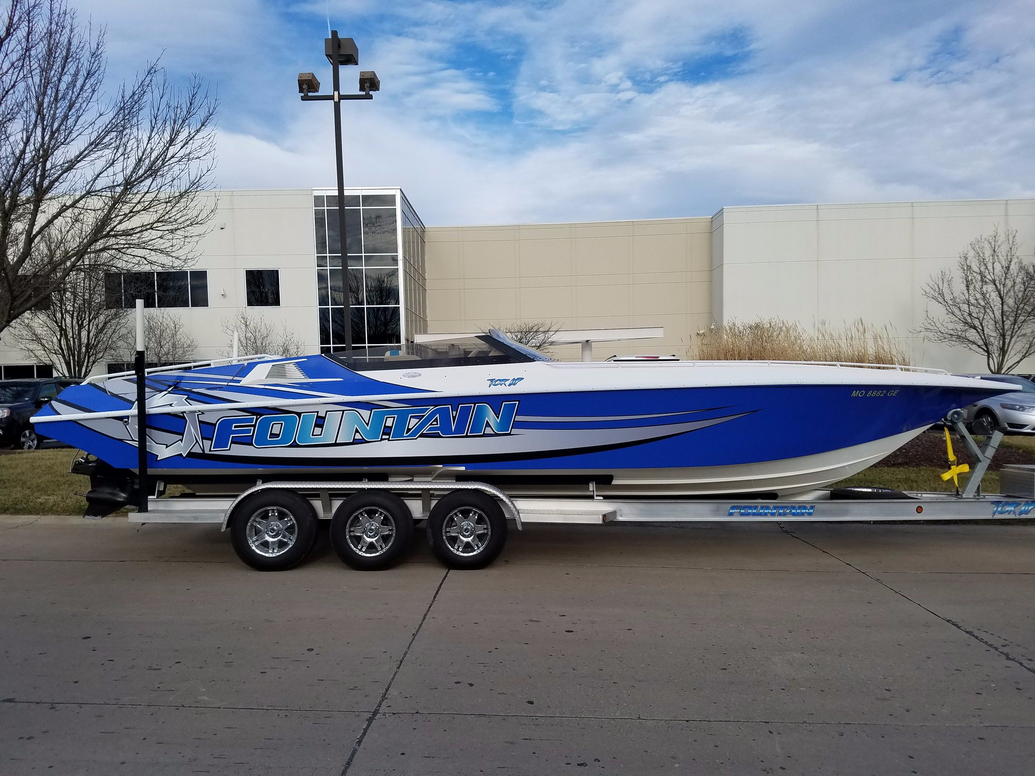 Schneider Graphics On Twitter Quot Fountain Boat Wrap Using