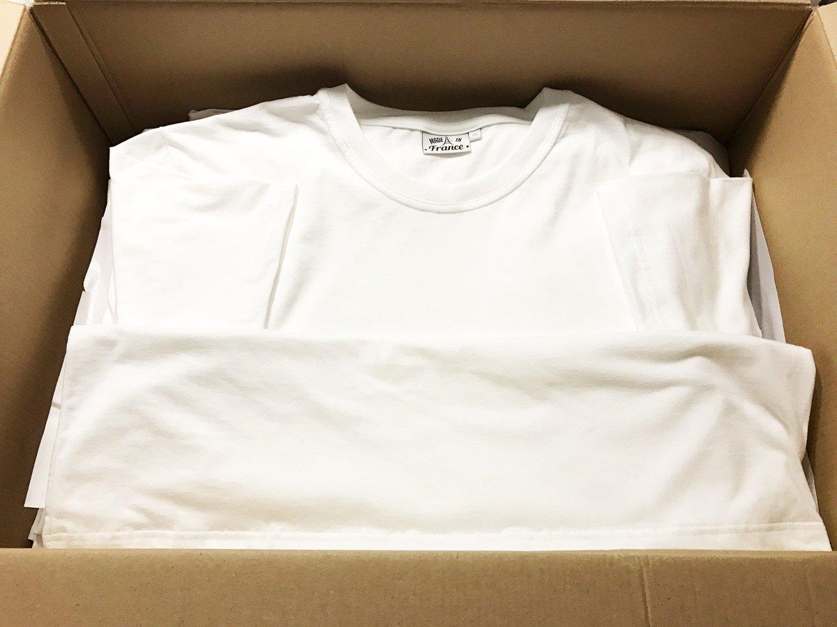 Nous avons reçu nos #Tshirts en coton #BIO #madeinfrance bientôt en ventes sur notre site, prêts à être envoyé à nos contributeurs d&#39;#Ulule<br>http://pic.twitter.com/4fki1yYYXN