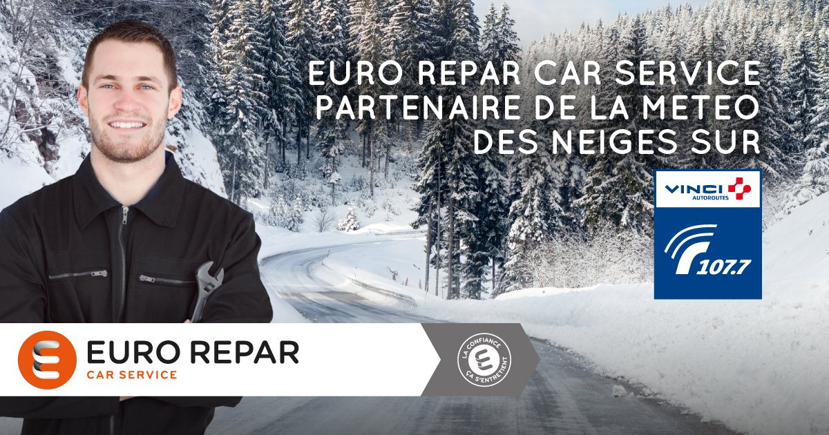 Prenez la route en toute #sécurité cet #hiver ! Euro Repar Car Service est partenaire de la météo des neiges sur @Radio1077<br>http://pic.twitter.com/lajOLY38vp