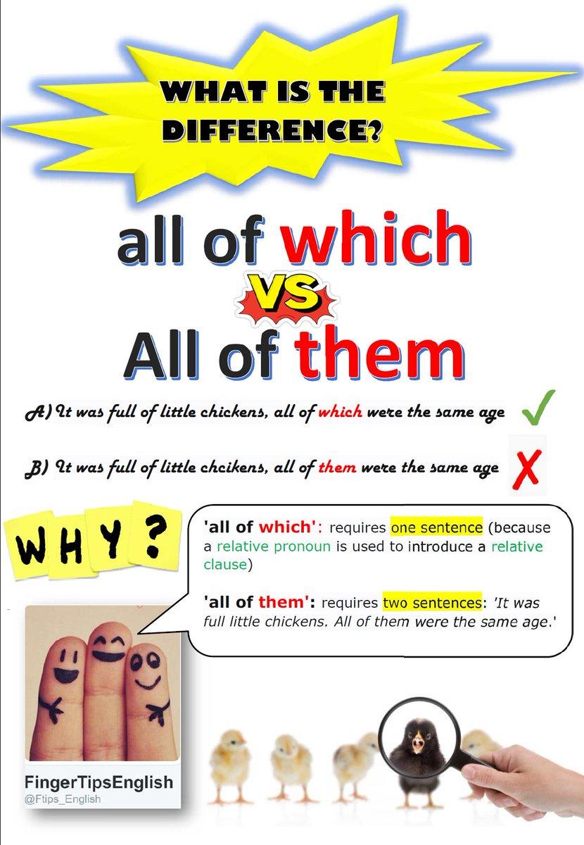 WHICH  VS  THEM  #learnenglish #ingles #english #ielts#langchat #elt #grammar #fce #cae #tesol #tefl #esol #twinglish #anglais #toefl<br>http://pic.twitter.com/7ZQTHrqwS1