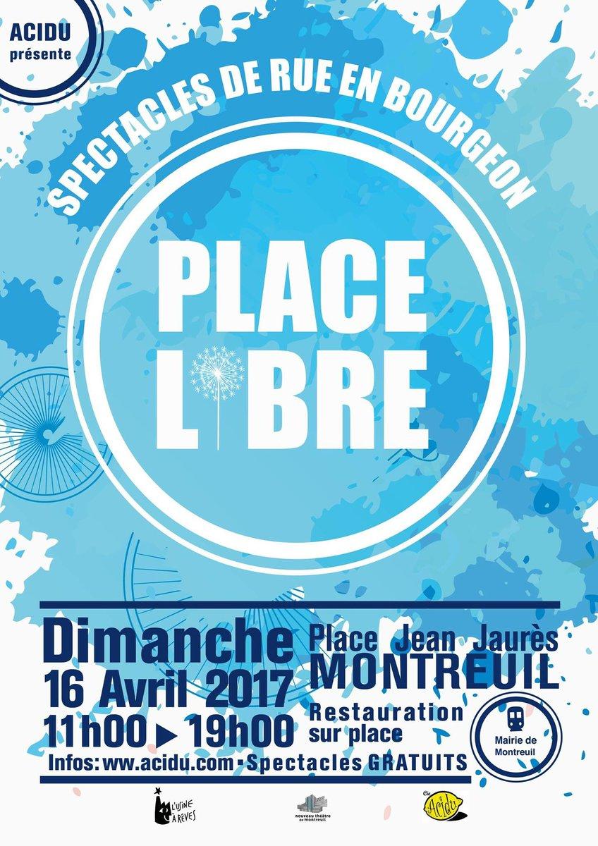 #PlaceLibre • Et voici notre projet d&#39;affiche pour 2017 ! Plus que quelques logos à ajouter :) #Rue #theatre #artDeRue<br>http://pic.twitter.com/TgcDJUv3nE