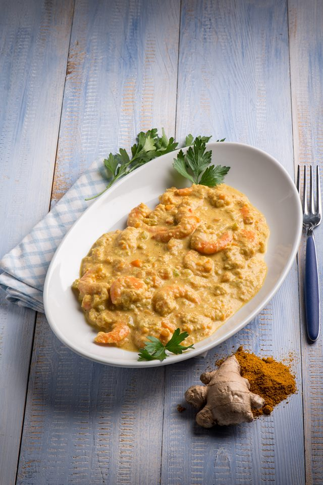 "cuisine et mets on twitter: ""crevettes curry, coco et gingembre"