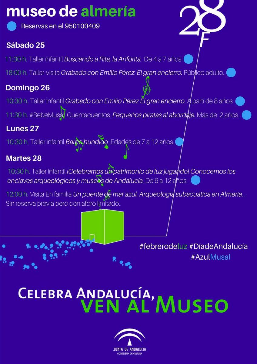 Estos días mucha cultura en #TuMuseo para celebrar el #DíadeAndalucía #Almería #mar #grabado #patrimonio  #VenAlMuseo<br>http://pic.twitter.com/cM45xJ1CRP