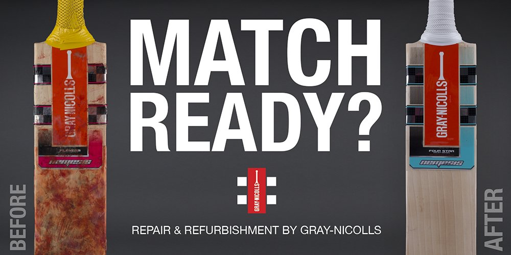 Is Your Cricket Bat Match Ready Visit Http Www Gray Nicolls Co Uk Batrepair Aspx Book In For A Makeover Just 8 Weeks To Go Before The Season