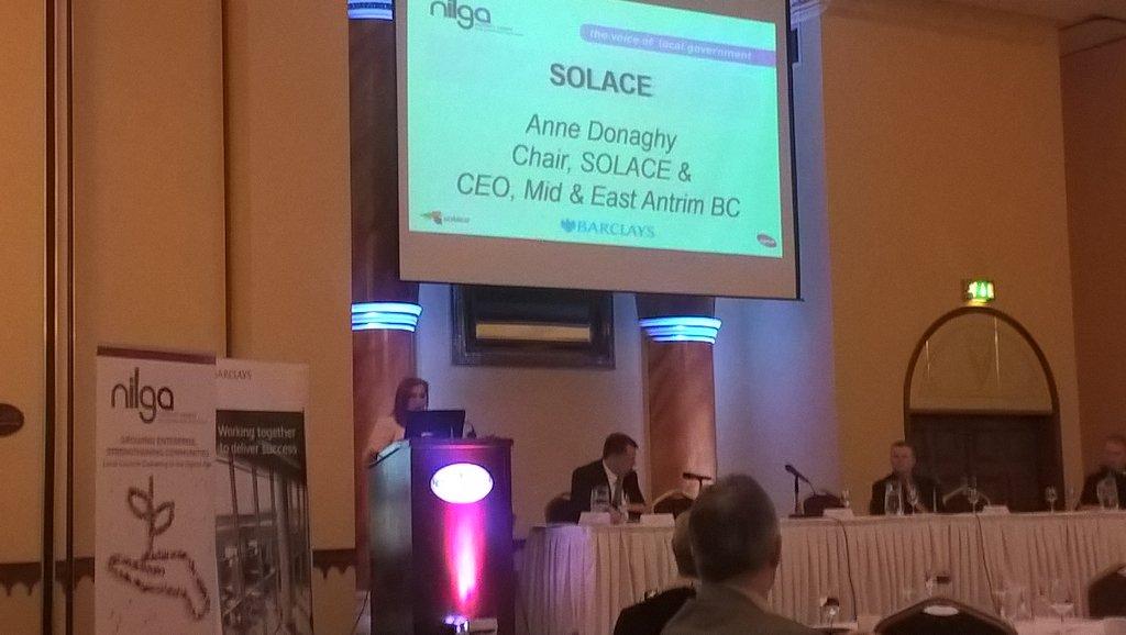 RT @NI_LGA Anne Donaghy @Solace_UK & CEO @mea_bc SOLACE dev. plans linked 2 @NI_LGA work. Massive opp. Loc. Gov. transformation