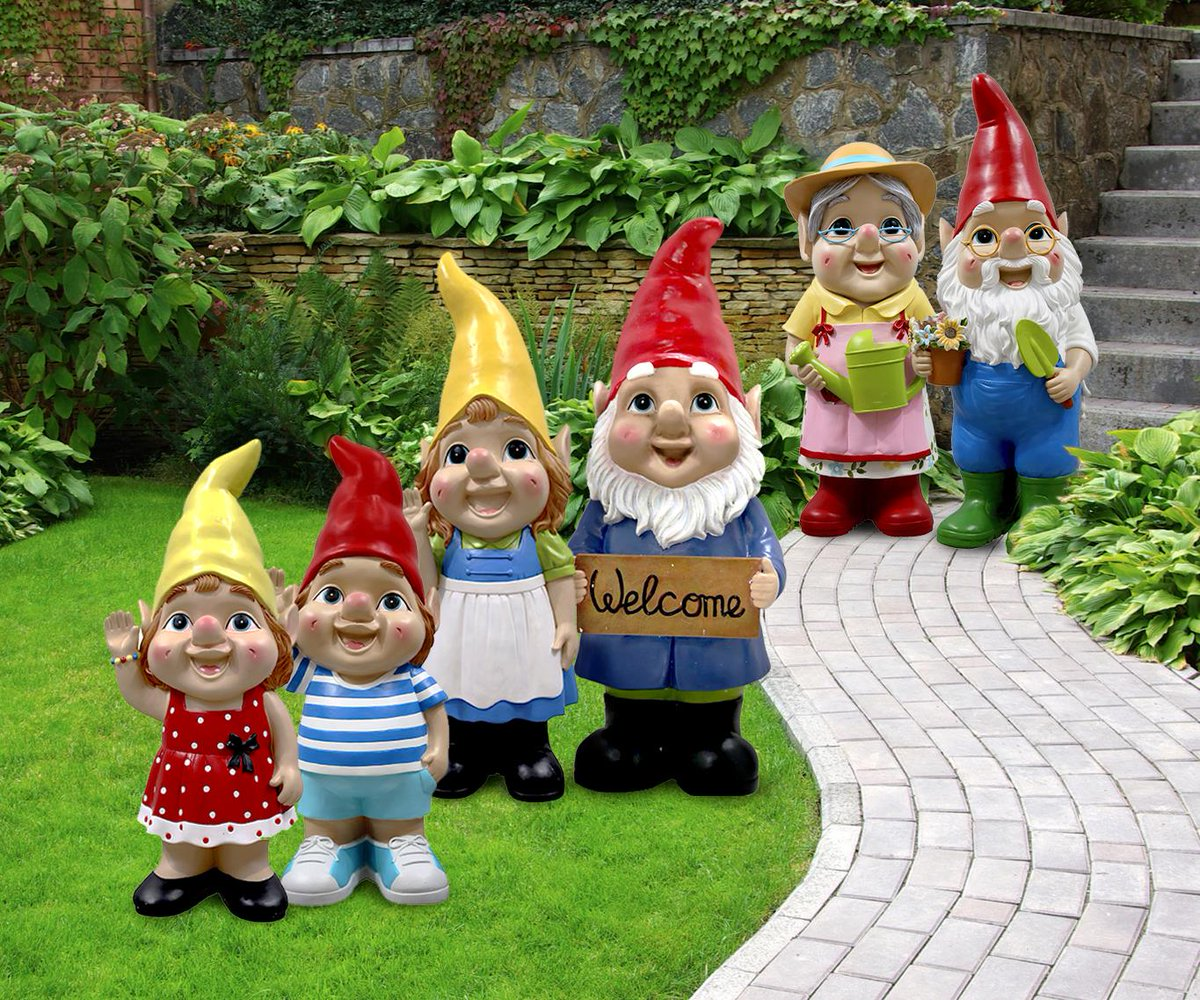 """Gnome In Garden: Asda On Twitter: """"Meet Our Latest Family Of Giant Gnomes"""