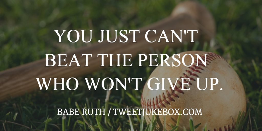 You just can't beat the... Babe Ruth #quote #quotes #tweetjukebox http...