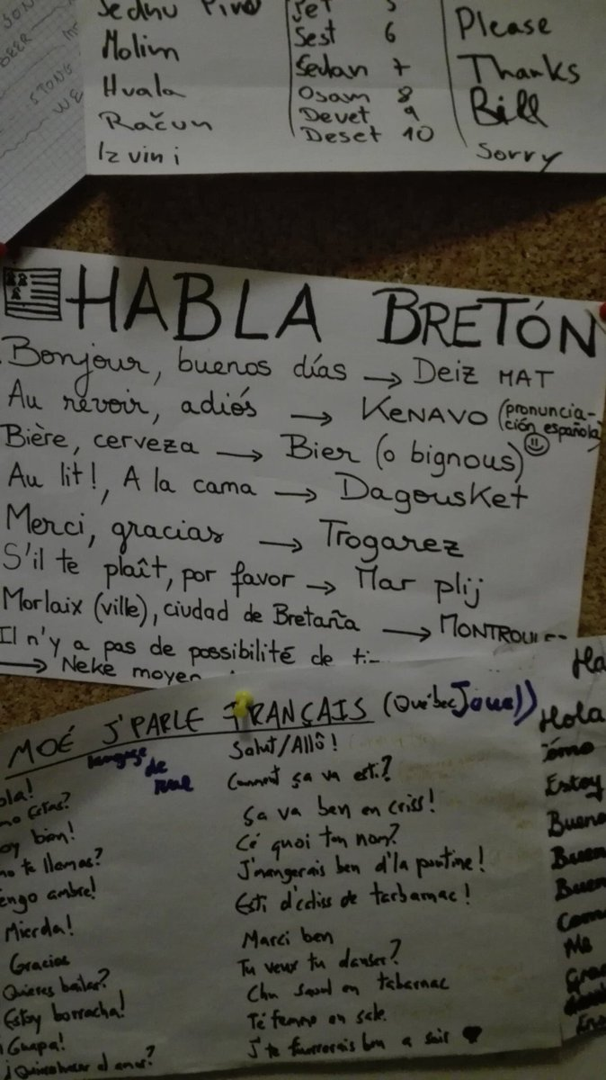 Le kit de survie du breton en terre étrangère  Habla bretón #insolite RT @HijoDeQuintoSol Les bretons, forceurs jusqu&#39;au bout.<br>http://pic.twitter.com/zEtnT8YT7c
