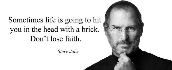 """Happy \""""Keep the Faith\"""" Friday! Happy Birthday Steve Jobs!"""