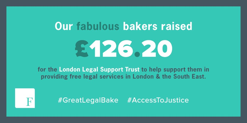 A huge thank you to our bakers who raised a total of £126.20 for @londonlegal during @greatlegalbake #GreatLegalBake #AccessToJustice https://t.co/KBjPJ6brPw