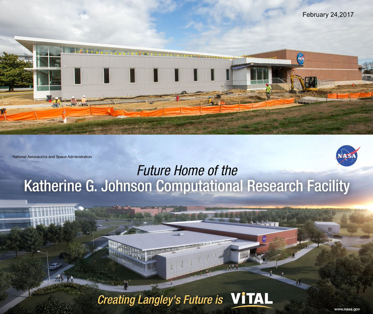 Katherine Johnson is no @HiddenFigures to us. Her new building is gett...