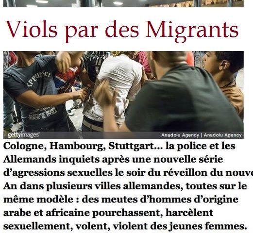 &quot;Pour ne pas oublier&quot;    Les viols par des #Migrants en Allemagne #Merkel responsable<br>http://pic.twitter.com/F3L1uYs3CA