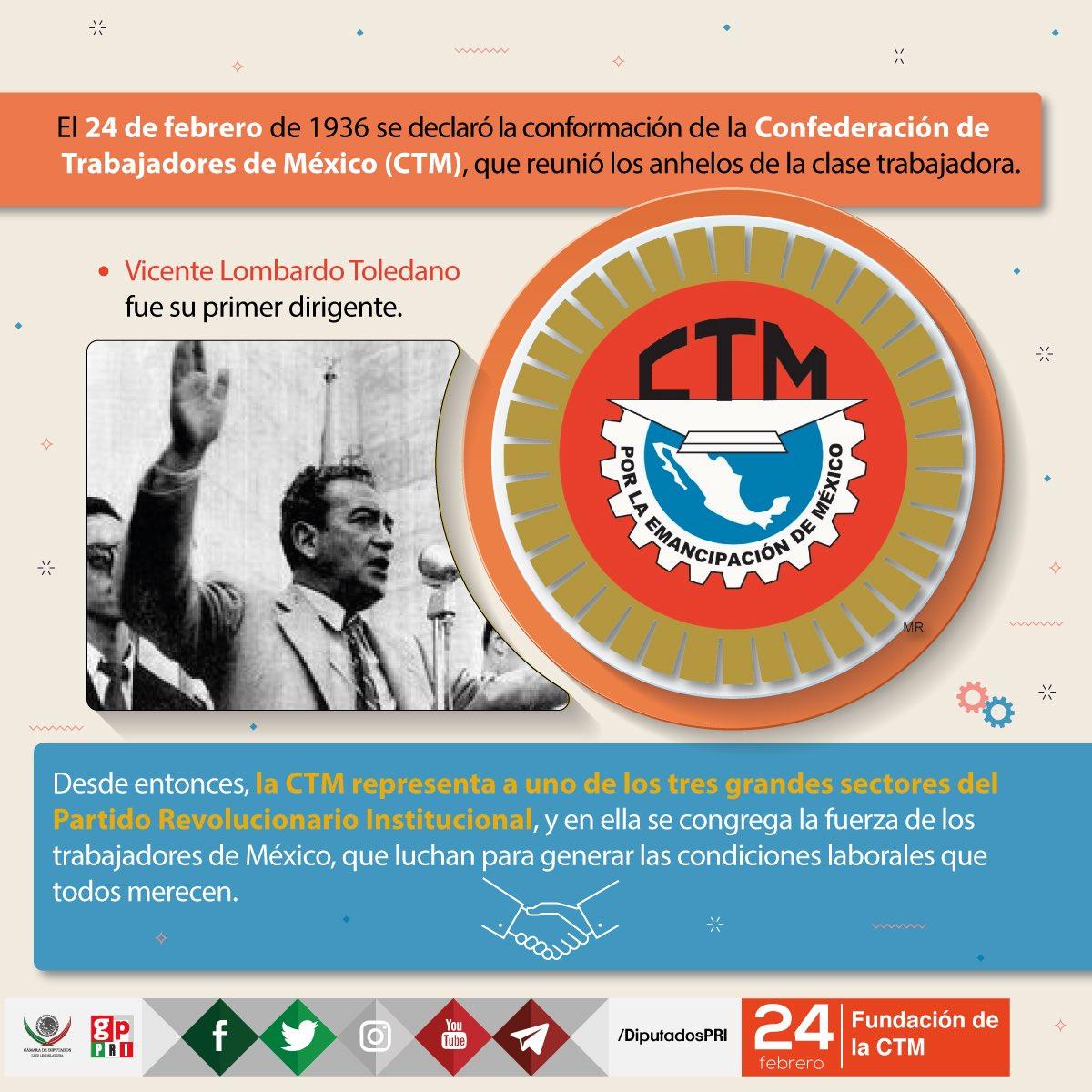 Hoy celebramos el 81 Aniv. de la @CTM_MX; la más Importante Central Ob...