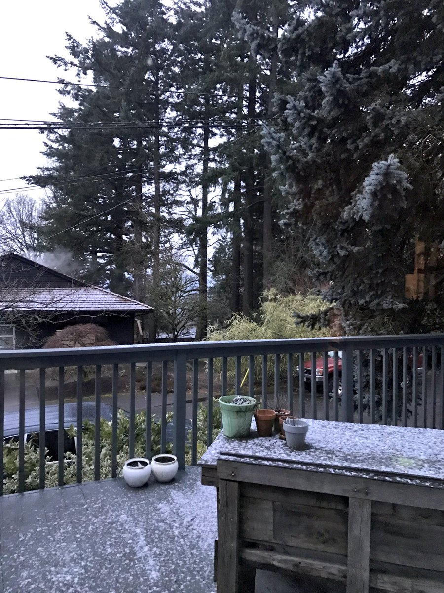 Woke up to snow on deck, near council crest. We will rebuild. #pdxsnow #koin6news<br>http://pic.twitter.com/DWl2V9xi8T
